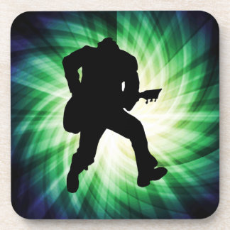 Cool Guitar Player Drink Coaster