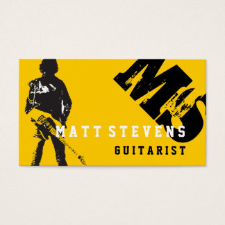 Cool Guitarist Guitar Lessons Music Instructor Business Card