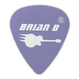 cool guitarman name personalized blue acetal guitar pick
