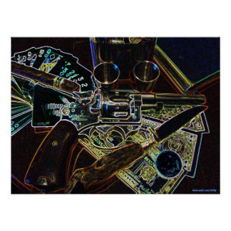 Cool gun abstract photography poster