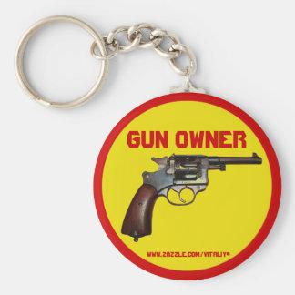 Cool gun owner keychain