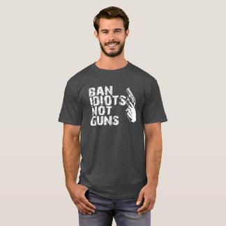 Cool Gun tshirt - Ban Idiots, Not guns