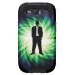 Cool Guy in Suit Silhouette Samsung Galaxy S3 Cover