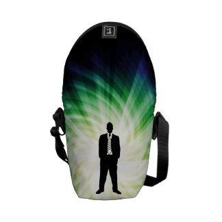 Cool Guy in Suit Silhouette Commuter Bags
