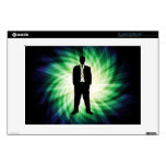 """Cool Guy in Suit Silhouette Skins For 13"""" Laptops"""