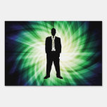 Cool Guy in Suit Silhouette Yard Signs