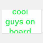 cool guy s rectangular stickers