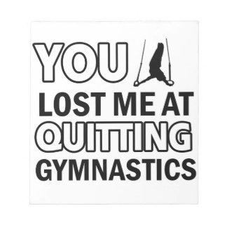 Cool gymnastics designs memo pad