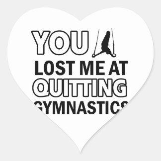 Cool gymnastics designs heart sticker