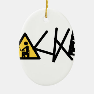 Cool Hacker Ceramic Ornament