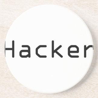 Cool Hacker design Sandstone Coaster