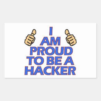 cool Hacker designs Rectangular Sticker