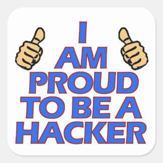 cool Hacker designs Square Sticker