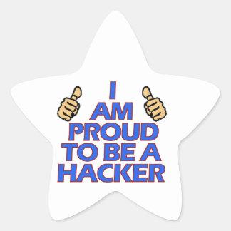 cool Hacker designs Star Sticker
