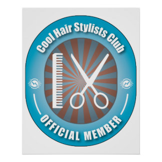 Cool Hair Stylists Club Poster