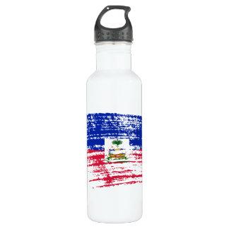 Cool Haitian flag design Water Bottle