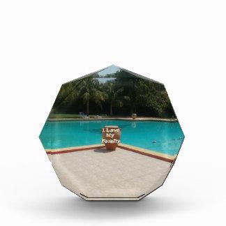 Cool Hakuna Matata Pool Side I love My Family.jpg Acrylic Award