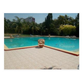 Cool Hakuna Matata Pool Side I love My Family.jpg Postcard