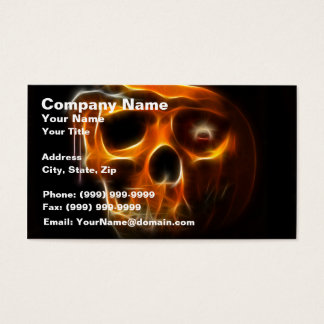 Cool Halloween Death Pumpkin Business Card