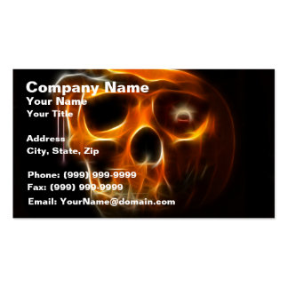 Cool Halloween Death Pumpkin Business Card
