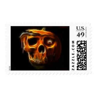 Cool Halloween Death Pumpkin Postage Stamp