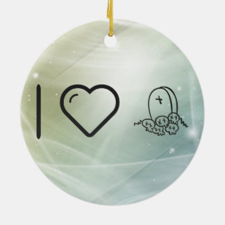 Cool Halloween Engraves Double-Sided Ceramic Round Christmas Ornament