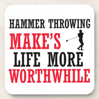 cool hammer Throwing design Drink Coaster