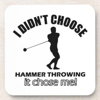 Cool Hammer Throwing designs Beverage Coasters