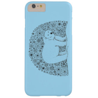 Cool Hand Illustrated Artsy Floral Polar Bear Barely There iPhone 6 Plus Case