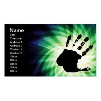 Cool Hand Print; Handprint Business Card