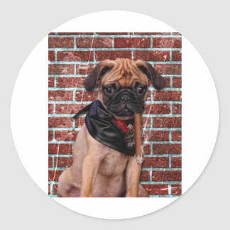 Cool Hand Pug Classic Round Sticker