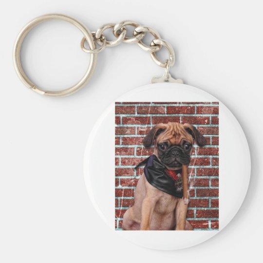 Cool Hand Pug Keychain