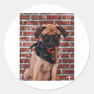 Cool Hand Pug Classic Round Sticker