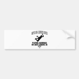 cool Handball DESIGNS Bumper Sticker