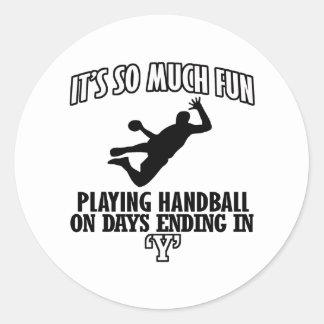 cool Handball DESIGNS Classic Round Sticker