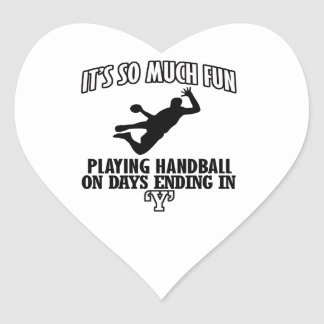 cool Handball DESIGNS Heart Sticker