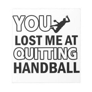 Cool handball designs memo notepads