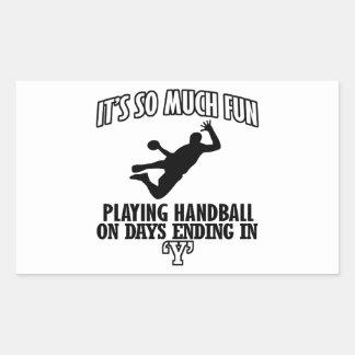 cool Handball DESIGNS Rectangular Sticker