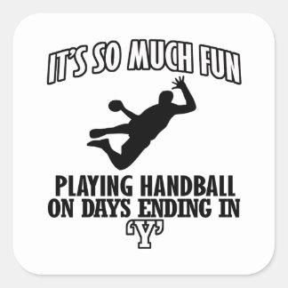 cool Handball DESIGNS Square Sticker