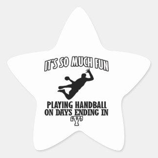 cool Handball DESIGNS Star Sticker
