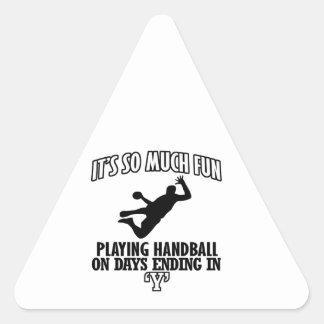 cool Handball DESIGNS Triangle Sticker