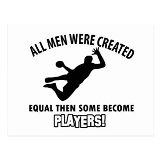 cool handball player design postcard