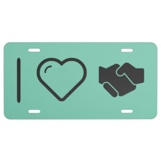 Cool Handshake Propers License Plate