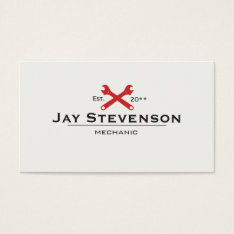 Cool Handyman Or Auto Mechanic Wrench Business Card at Zazzle
