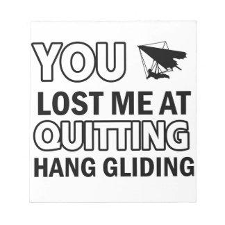 Cool hang glide designs memo notepads