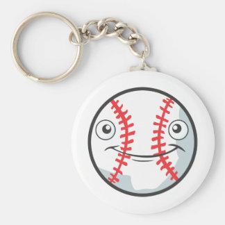 Cool Happy Baseball Sports Cartoon Keychain
