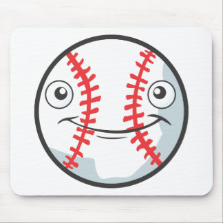 Cool Happy Baseball Sports Cartoon Mouse Pad