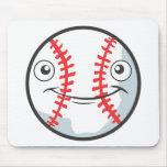 Cool Happy Baseball Sports Cartoon Mousepads