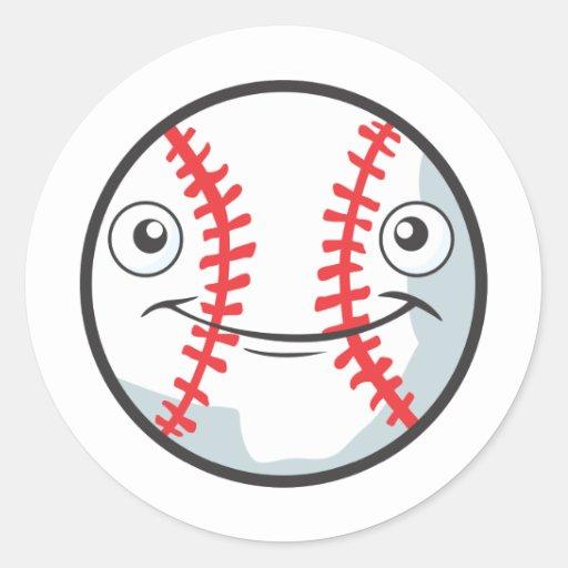Cool Happy Baseball Sports Cartoon Stickers