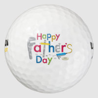 cool happy father's day golf ball
